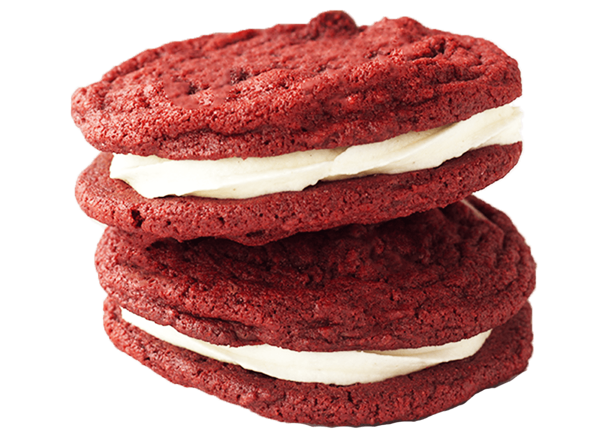 Red Velvet Sandwich Cookie | Cookies for College | Cookie Bakery Houston